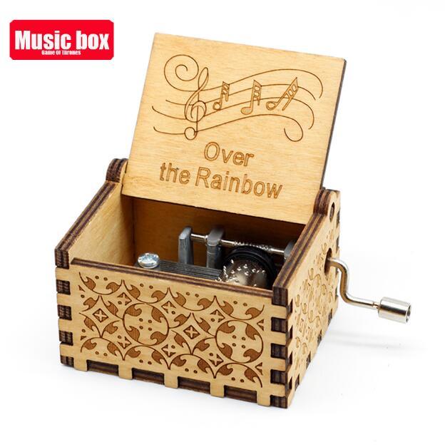 Старинная резная музыкальная шкатулка королева Кривошип Сейлор Мун деревянная музыкальная шкатулка Рождественский подарок на день рождения вечерние украшения - Цвет: RainBow