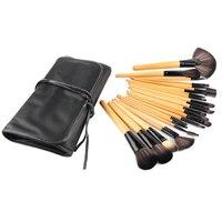 Anfänger Verwendung Braunen Lippenstifte Bilden Werkzeug Kosmetik Schönheit Kit + schwarze Tasche Tasche Professionelle Rosa Make-Up Pinsel Sets2