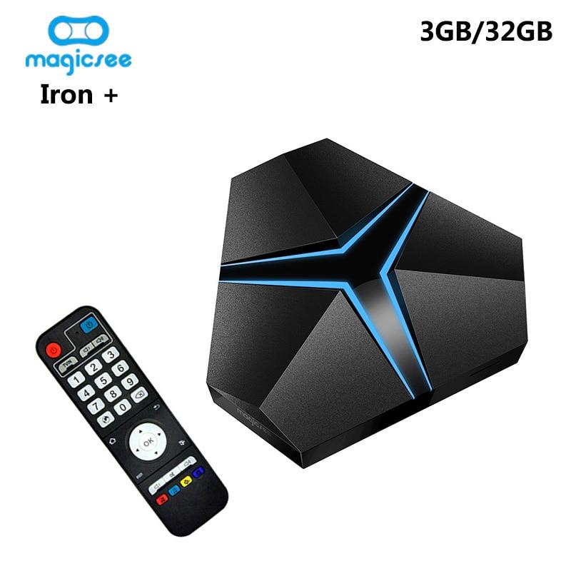 Magicsee Iron + Amlogic S912 Octa Core 3GB 32GB Android 7.1 TV Box 2.4G/5.8G Wifi OTA Bluetooth 4.1 4K HD lecteur multimédia intelligent