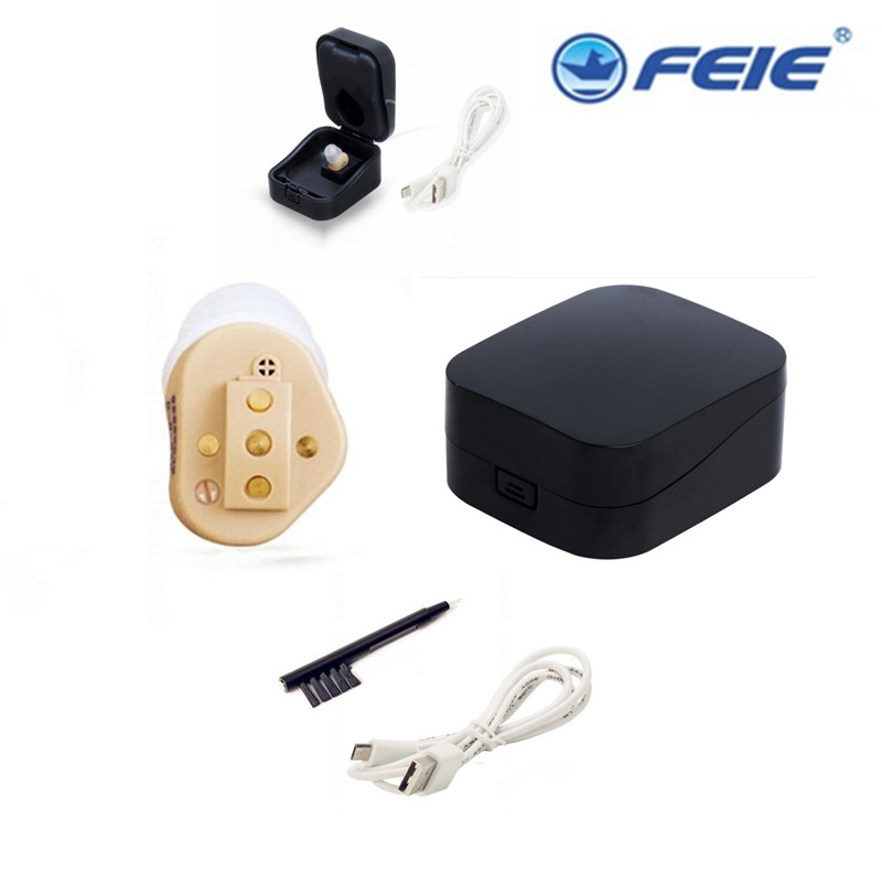 CIC Invisible Digital Mini ITE Hearing Aids Personal Sound Voice Hearing Amplifier Superior Sound Low Distortion Beige ColorS-51