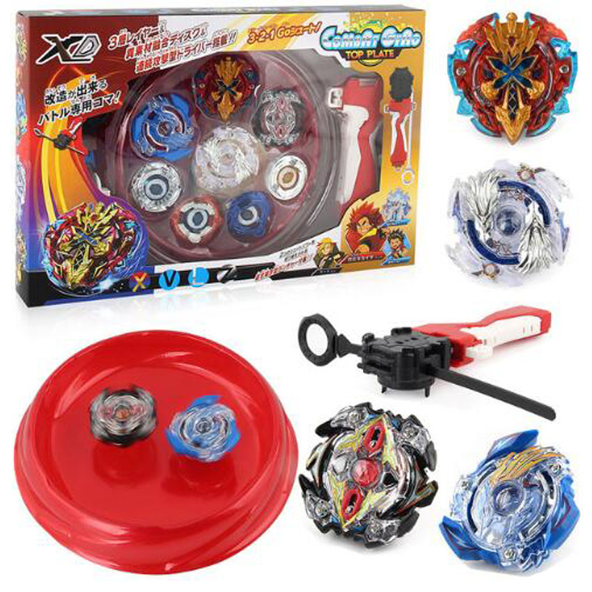 4pcs/set Beyblade arena stadium Metal Fusion B-48 B-66 4D Battle Metal Top Fury Masters launcher grip children christmas toy топор fusion battle ax sog
