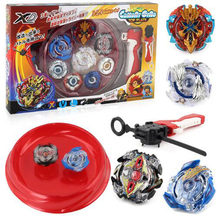 4pcs/set Beyblade arena stadium Metal Fusion B-48 B-66 4D Battle Metal Top Fury Masters launcher grip children christmas toy(China)