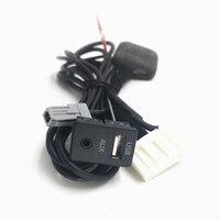 Car DIY AUX USB KIT USB/AUX Panel Switch 28Pin Port for Toyota Corolla Rav4 Highlander Land Cruiser Camry