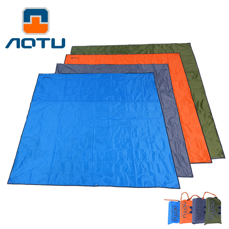 Waterproof Grass Hiking Camping Mat Large Tents Outdoor Beach Picnic Cloth  Pad Cushion Awning Dampproof Mat Earth 210*215*215CM