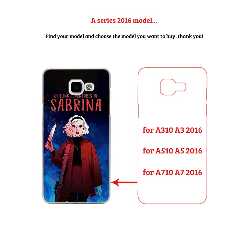 Chilling Adventures Sabrina Transparent Phone hard Case for Samsung Galaxy M10 M20 A3 A5 A6s A7 A8 2016 2017 A6 2018 Plus in Half wrapped Cases from Cellphones Telecommunications