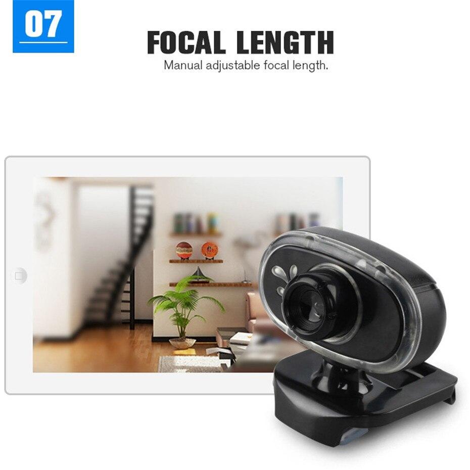 Basix 360 Degree Rotation USB Webcam HD Web Camera2