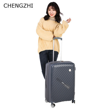 CHENGZHI The latest PP trolley suitcase anti-fall luggage 20/24/28inch rolling luggage travel password boarding box