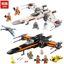 Lepin 05145 05004 05029 legoinglys 75218 75149 75102 Star fighter First Order Poe's X Wing Fighter Wars Building Blocks Bricks(China)