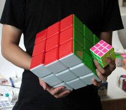HotSelling Nuovo 18 centimetri 3x3x3 Cubo di Super Grande Magia Di Puzzle 3x3 Cubo magico stickerless professionale Giocattolo Educativo per il capretto migliore regalo