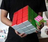 Sıcak satış Yeni 18 cm 3x3x3 Küp Süper Büyük Sihirli Bulmaca 3x3 Cubo magico stickerless profesyonel eğitici oyuncak çocuk için en iyi hediye