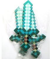 2017New 10pcs Lot Newest Design Mini Size 60cm MineCraft Blue Diamond Sword Soft EVA Foam Toy