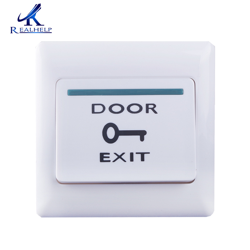 For Proximity Access Control System White Push  Exit Button Door Exit Release Button Security Access Control System