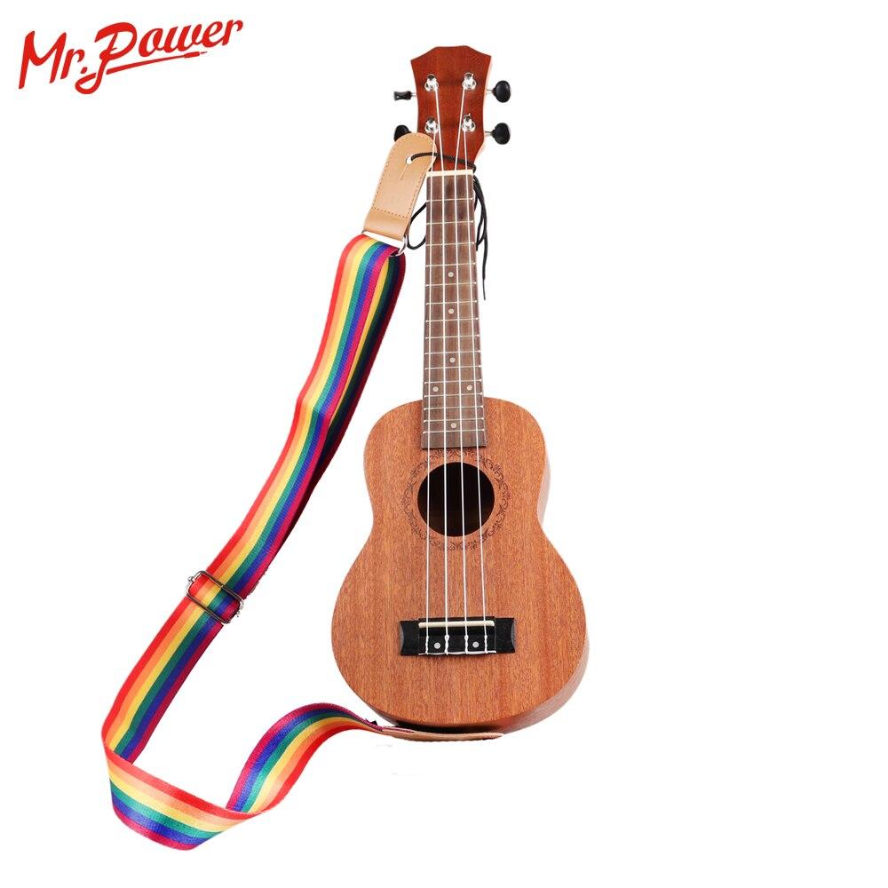 Adjustable Multicolor Ukulele Strap Soft Nylon Belt For Hawaiian Guitar Ukulele