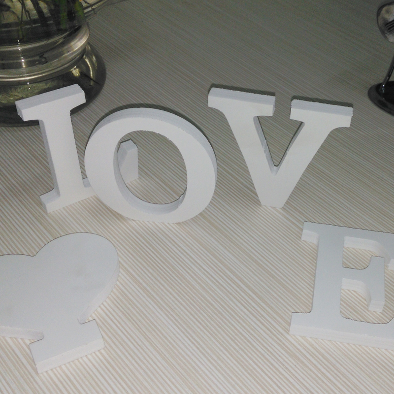 English Letters Wooden Wall Stickers