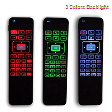 3 Colors Backlight 2.4G Fly Air Mouse Mini Wireless Gaming Keyboard Universal Remote Control Gamepad for Android TV Box X92 PS3