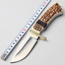 New Browning Hunting Knife Fixed 5CR17MOV Blade Knife Survival Knifes Tactical Camping Knives Outdoor Tools KN233