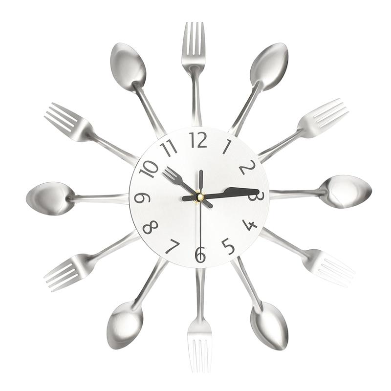 moderno nastro multi color posate da cucina orologio da parete cucchiaio forchetta orologi da parete