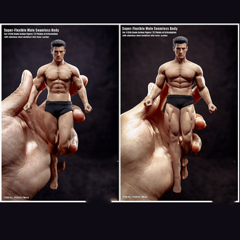 1/12 Super Fitness Flexible Male Seamless Body Head Mini Action Figure Model for Fans Gifts Collectible