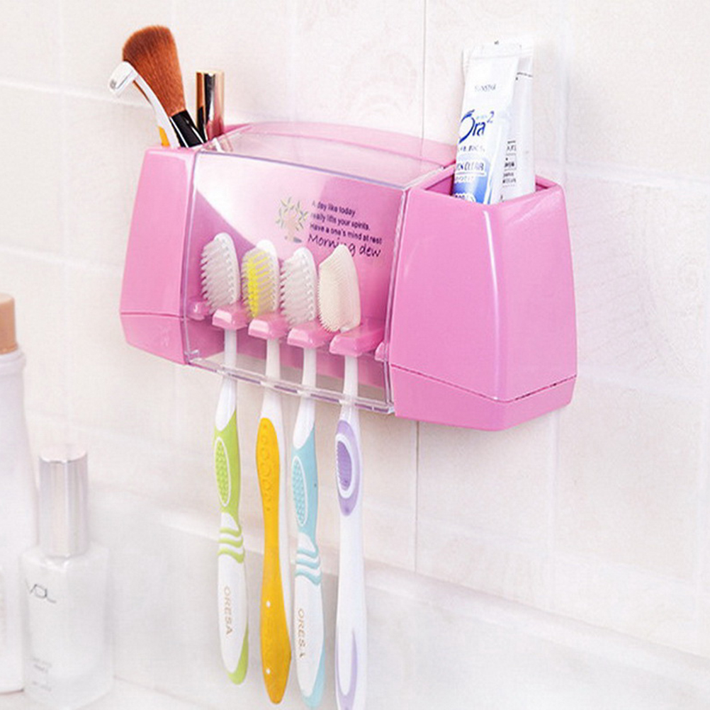 Hot Sale multifunctional toothbrush holder storage box bathroom accessories suction hooks tooth brush holder brand new image