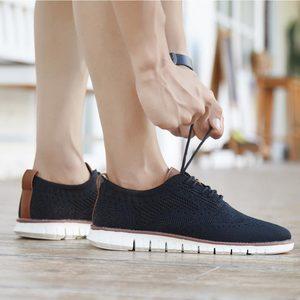 Image 1 - MWY British Style Mens Shoes Casual Breathable Hard Wearing Sneakers Men Zapatillas De Hombre Men Shoes Light Walking Men Flat