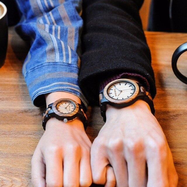 Antique BOBO oiseau L-N30 amoureux montres vente chaude personnalisé zèbre bois artisanat haut marque montres