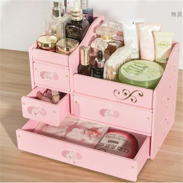 Decorative Wooden Jewelry Box Creative DIY Waterproof PVC Drawer