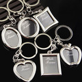 Creative Mini Heart Square Round Oval Insert Photo Frame Rotary Keychain Keyring smt 102
