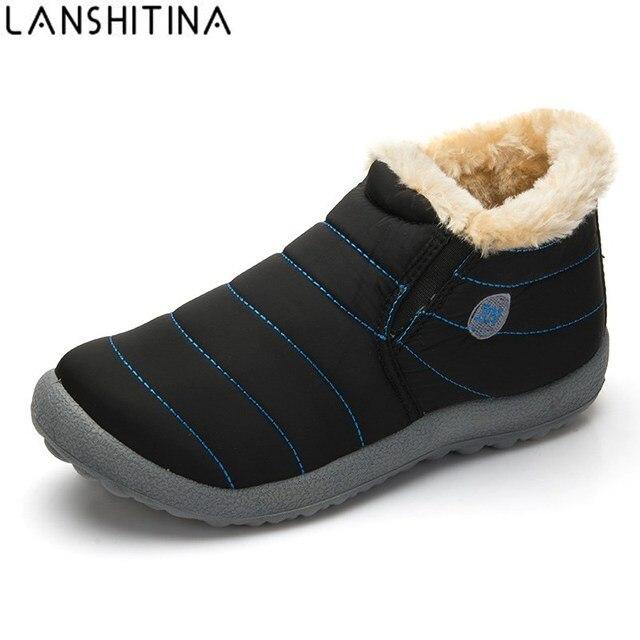 2018 Silp-on Männer Winter Schuhe Plüsch Warme Schnee Stiefel Baumwolle Innen  Gleitschutz Bottom Casual 226778d2f4