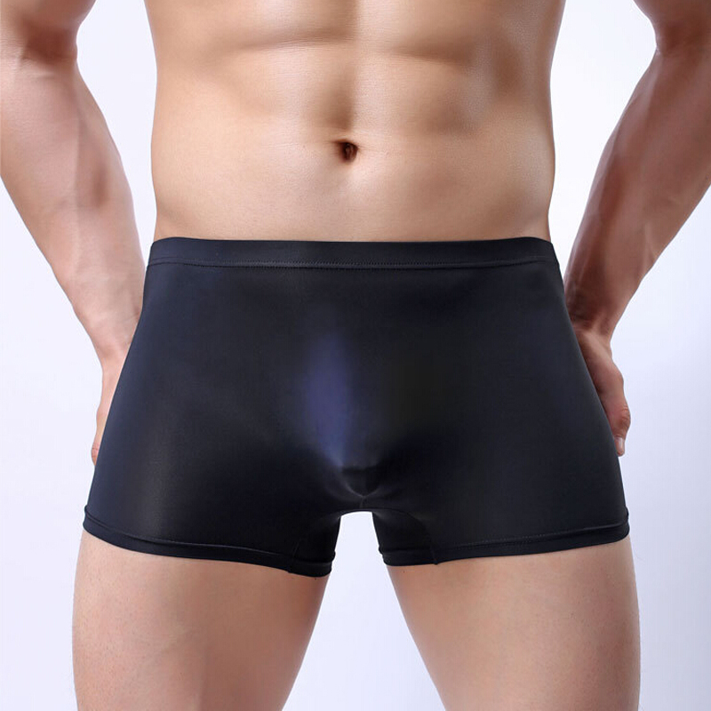Sexy Three-dimensional Convex Design Boxer Shorts Men Breathable Transparent Boxers Mens Ice Silk Underwear Seamless Flat Pants