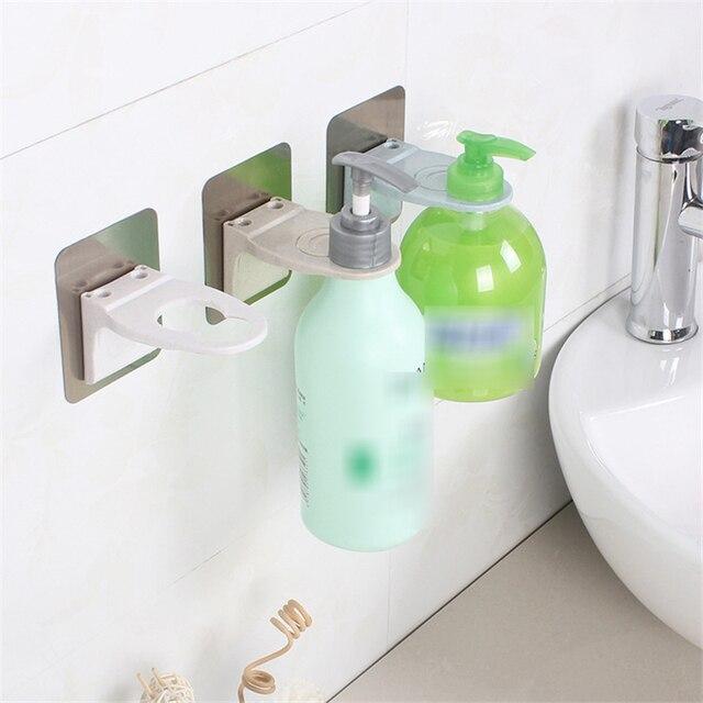 Do montażu na ścianie magia silne przyklejony szampon hak prysznic ręczny butelka mydła wiszące uchwyt na ręczniki akcesoria łazienkowe kąpieli haki wieszak stojak na