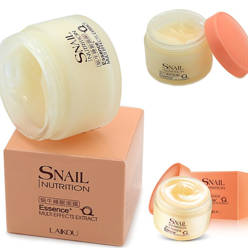 75g Snail Sleeping Mask Essence Moisturizing Night Cream Anti Aging Wrinkle Cream as shown 6