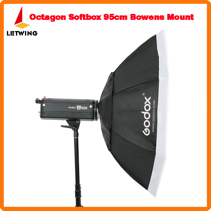 Free shipping Godox Professional Octagon Softbox 95cm 37 with Bowens Mount for Studio Strobe Flash Light godox studio flash accessories octagon softbox 37 95cm bowens mount with the gird for studio strobe flash light