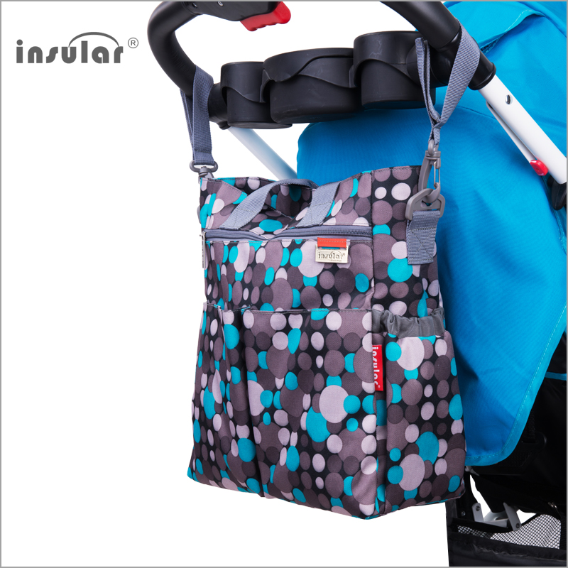 Insular Fashion Baby Diaper Bag Nappy Bags Waterproof Changing Bag Multifunctional Mommy Bag Shipping Free