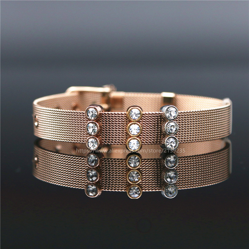 Slide Charms For Bracelets: Keep Collective Sparkling Trio Slide Charms Fit On Keeper