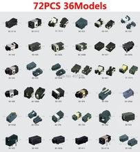 72pcs/36models DC power connector female tablet DC jack laptop socket terminal 12V SMD Pin1.0/1.35/2.0(China (Mainland))