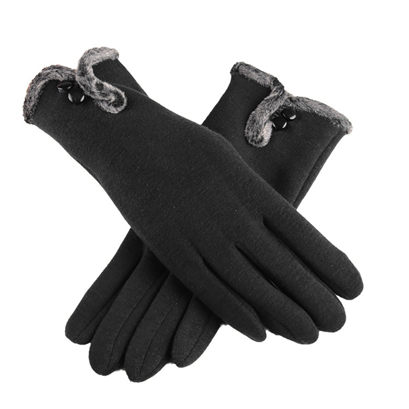 NAIVEROO Waterproof and Warm Touch Screen Gloves made of PU Leather and Conductive Fibers for Women Suitable for Spring and Winter 39