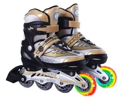 Vente chaude! Jeunes Enfants hommes et femmes En Plein Air Chaussures De Patinage Inline Patins de Patinage à roulettes Chaussures débutant droite patins à roulettes