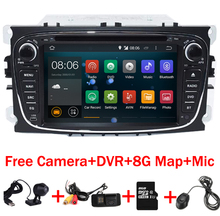 7 inch 2din Android 6.0 Car DVD Player for Ford Mondeo C-max S max Galaxy Wifi 4G GPS Bluetooth Radio Canbus Free Camera+DVR Map