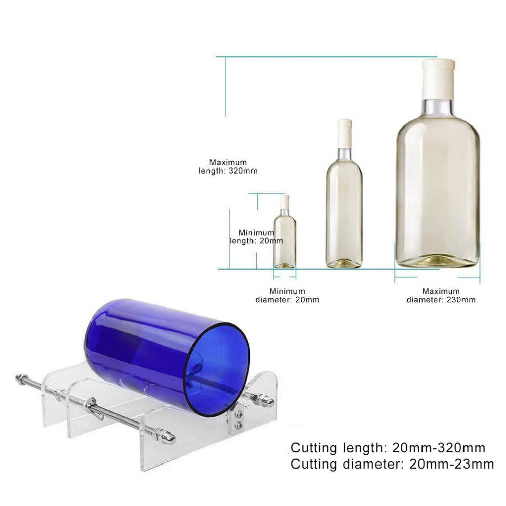 Professional long glass bottles cutter machine cutting for How to cut the bottom off a wine bottle easily