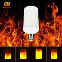 מנורת LED אפקט להבה נורות E26 E27 7 W 90-260 V AC Creative אורות מהבהב אמולציה בציר אווירה דקורטיבית מנורה
