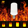 LED Lamp Flame Effect Light Bulbs E26 E27 7W 90 260V AC Creative Lights Flickering Emulation