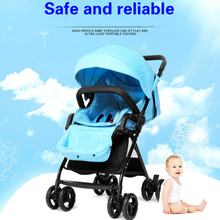New fashion beautiful colourfu high-profile baby carts safe  lightweight multi-functional folding can sit and lie stroller