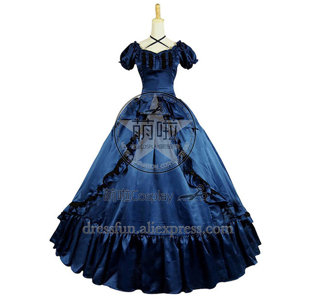 Civil War Victorian Tartan Ball Gown Day Dress Prom Cosplay With ...