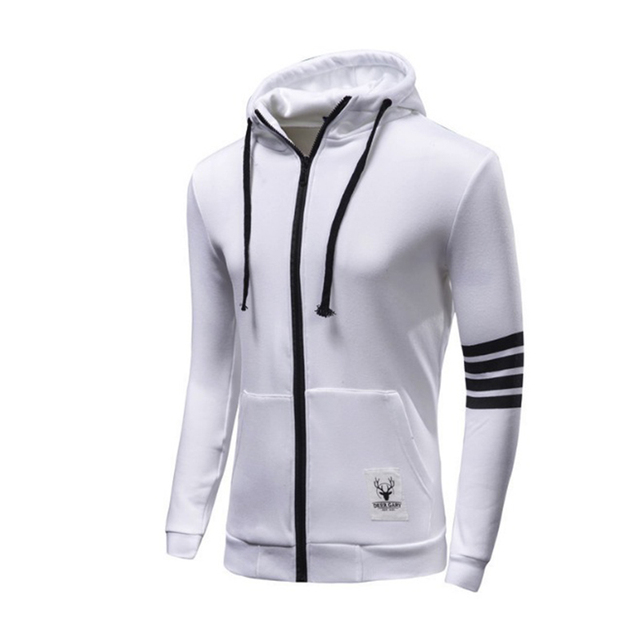 All White Polo Hoodie