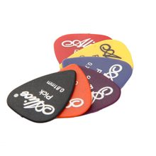 OCDAY 100pcs Bass Guitar Picks Colorido Mix de Espessura 0.58-0.81mm Mediador Plectrum Guitarra Instrumento Musical Peças com caixa(China)