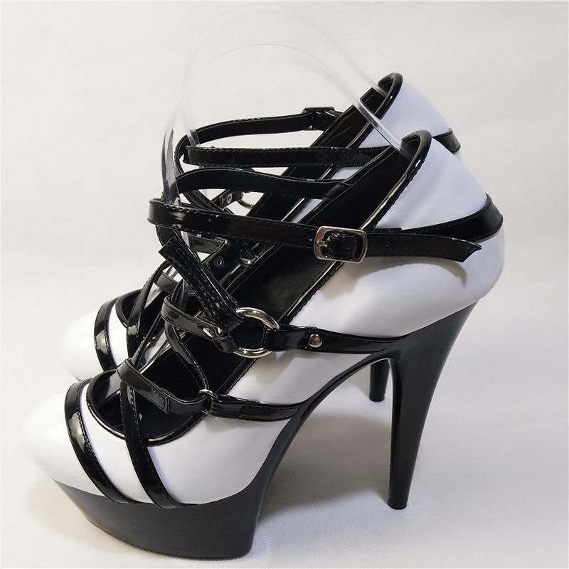 Mujer 15 D090 Printemps Pompes Bout Cm Laijianjinxia Plate Rond Femmes Zapatos De Talon Mariage Sexy forme Chaussures Mince automne Nouvelle Sangle d101 Cheville xqw1n14Xv