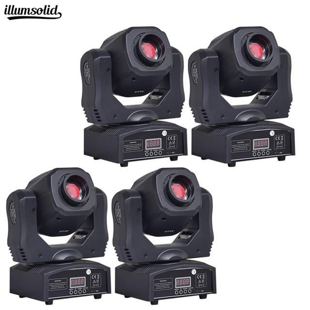 4Pcs/Lot 60w Moving Head Light For DJ Disco DMX Souds Moving Head Light