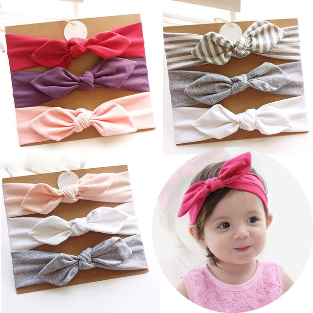fa2c1c717d9fa US $2.29 20% OFF|3Pcs/Lot Spring Summer New Baby Girl Headbands Floral Bows  Knotted Haarband Baby Headband Hair Band with Cardboard Dropshipping-in ...