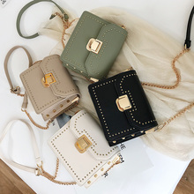 купить New Fashion Bags For Women 2019 Female Shoulder Bag Rivet Black Vintage Crossbody Sling Bag Messenger Women's Flap Small Clutch по цене 1139.8 рублей