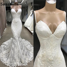 SexeMara Real Picture Sexy Wedding Dresses Court Train